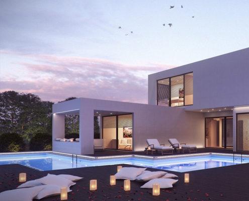 construcción de piscina particular